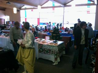 craft fair inside the building