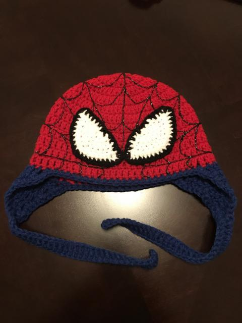 knit spiderman cap