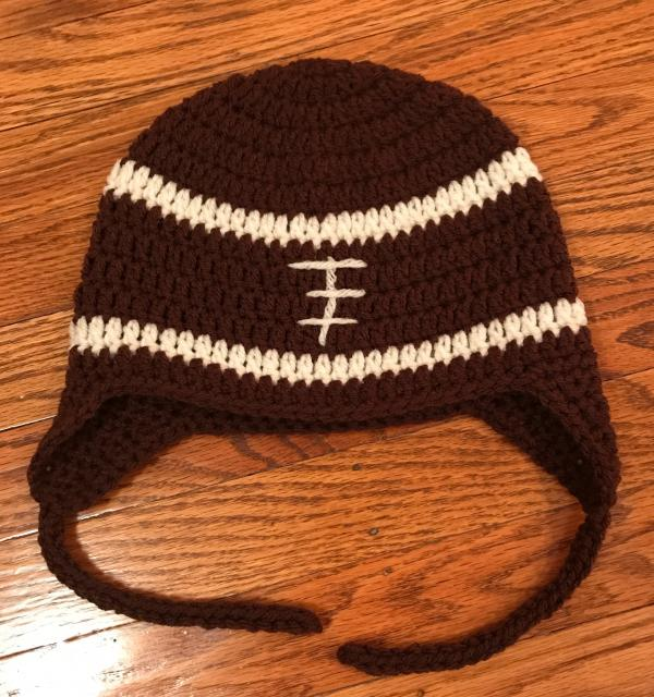 brown cap with design
