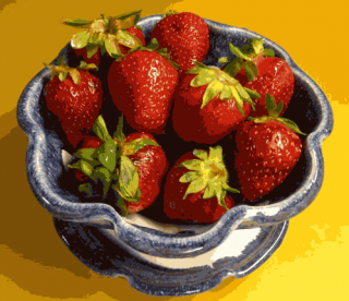 strawberries in a berry bowl