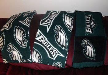 The same green flannel scarves as shown on main page, but larger.