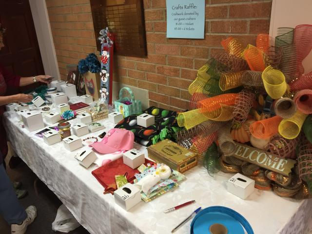 raffle items from crafters
