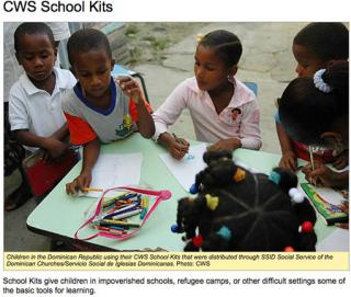school kits in the Dominican Republic