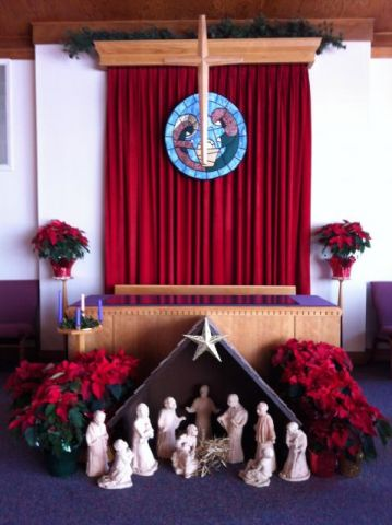 Our sanctuary is prepared for Advent & Christmas