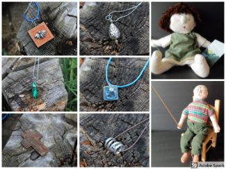 jewelry & dolls from Mary Lake