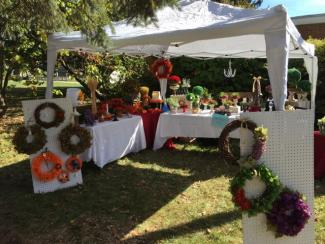 Beth's outdoor stand at our 2017 Craft Fair