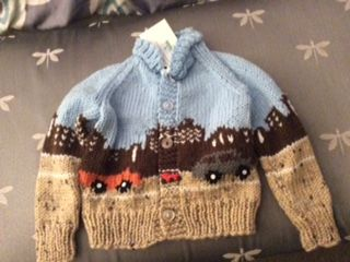 boy's sweater with city scene